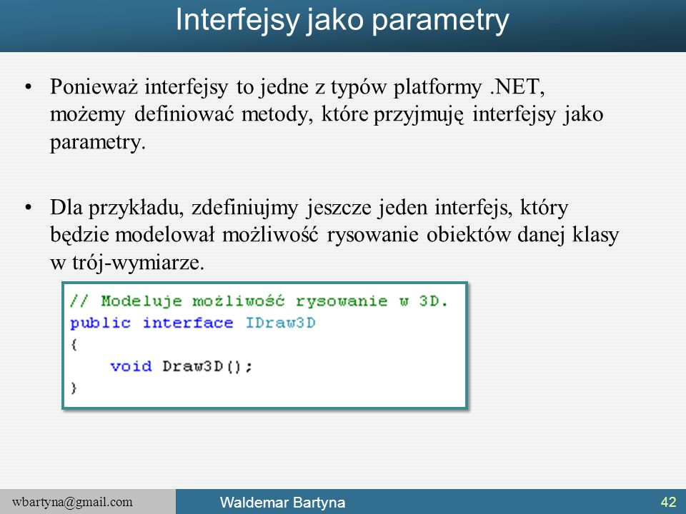 Interfejsy jako parametry