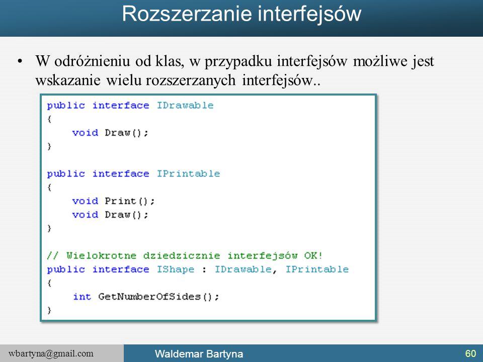 Rozszerzanie interfejsów