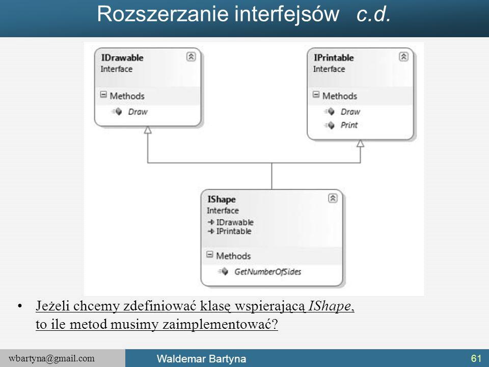 Rozszerzanie interfejsów c.d.
