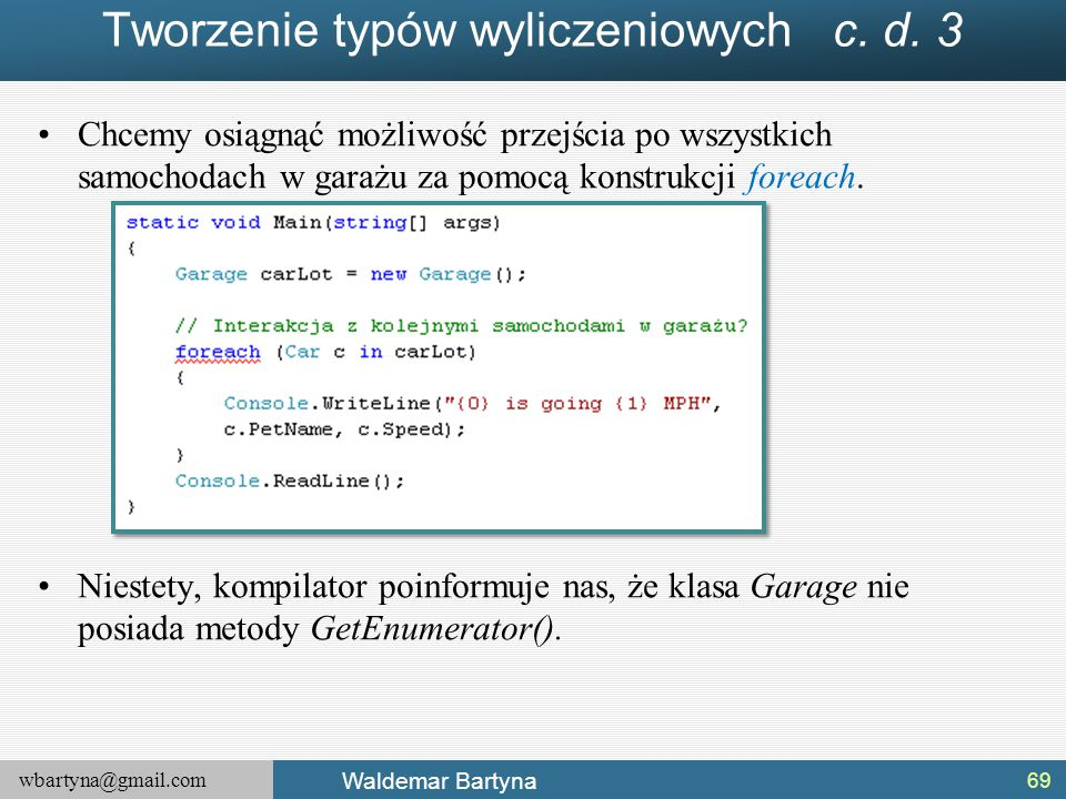 Tworzenie typów wyliczeniowych c. d. 3