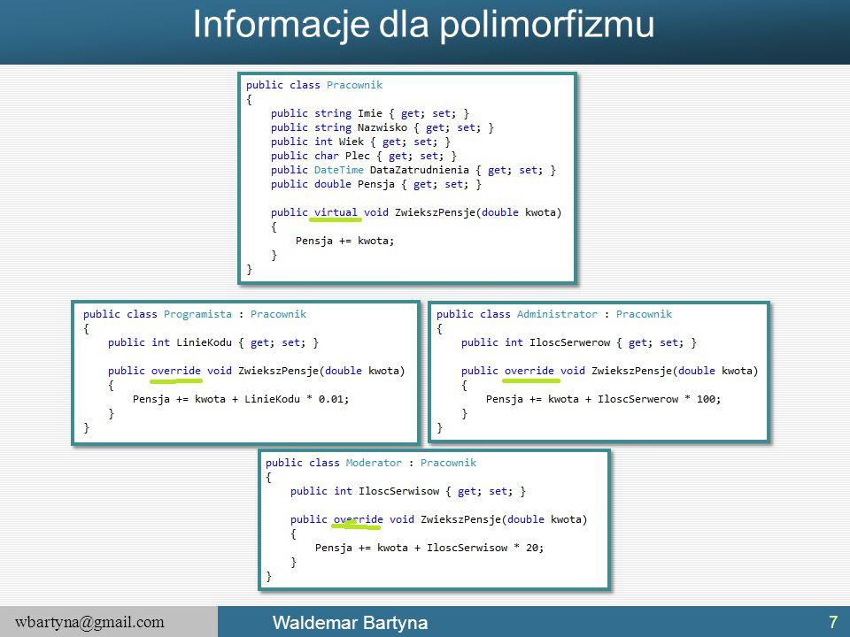 Informacje dla polimorfizmu