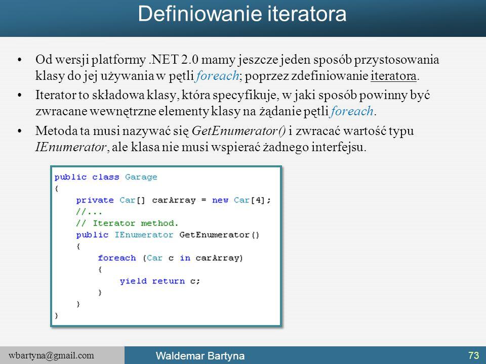 Definiowanie iteratora