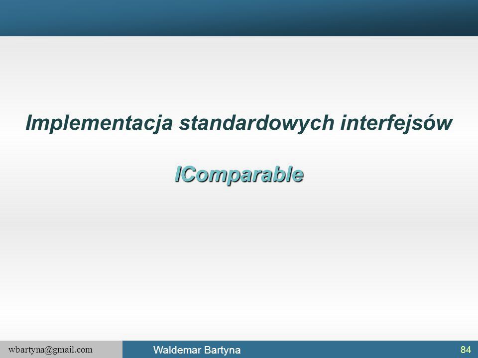 Implementacja standardowych interfejsów
