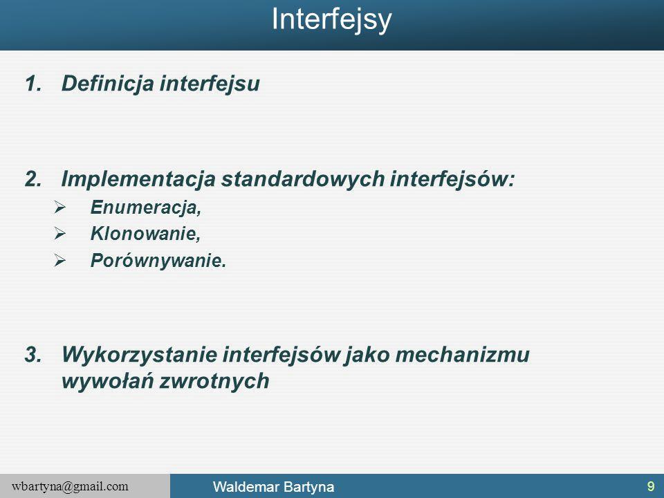 Interfejsy Definicja interfejsu