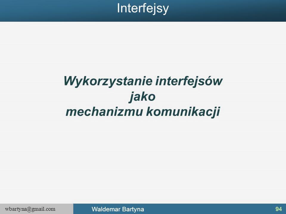 Wykorzystanie interfejsów mechanizmu komunikacji