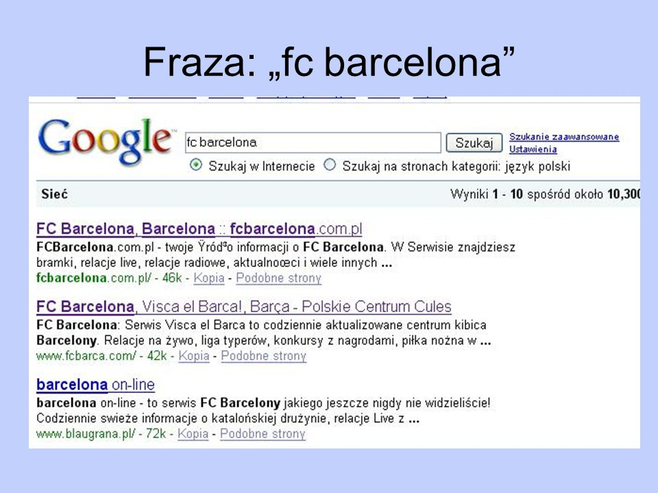 "Fraza: ""fc barcelona"