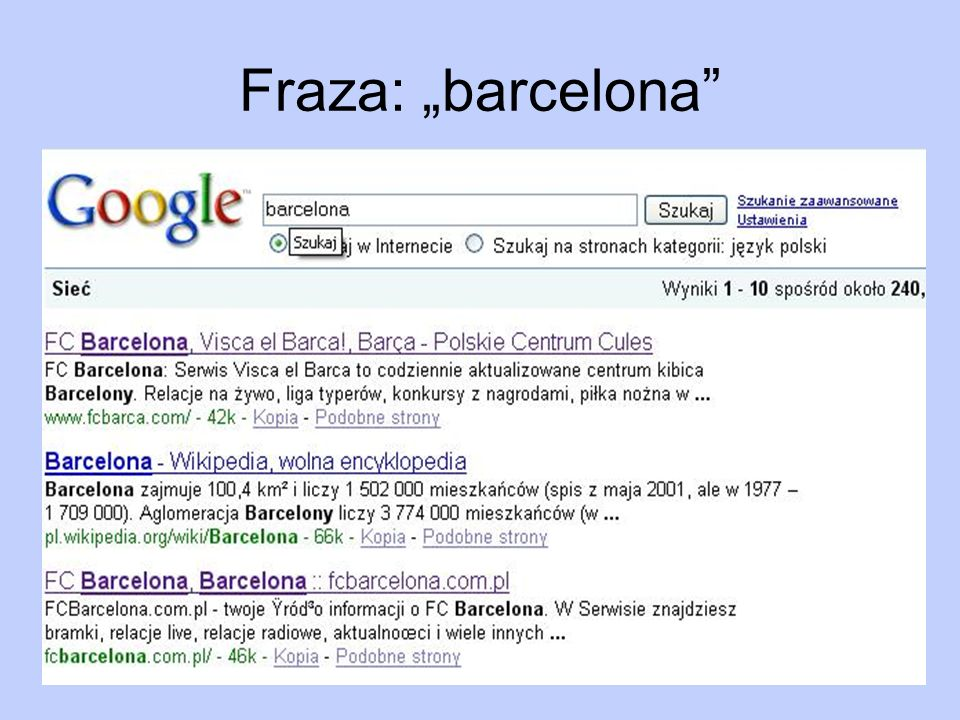 "Fraza: ""barcelona"