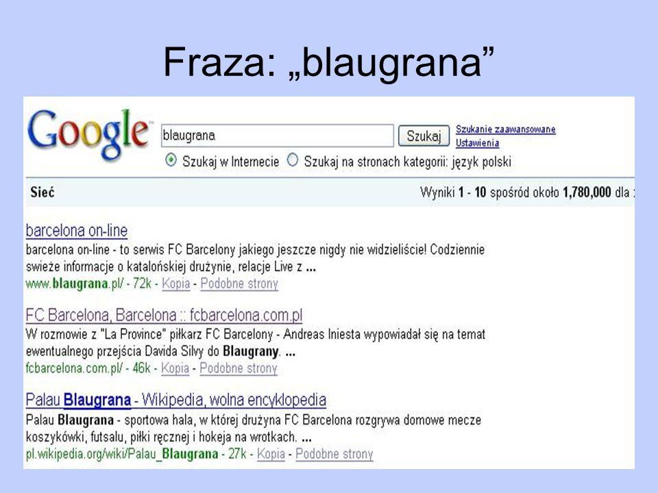 """Fraza: """"blaugrana"""