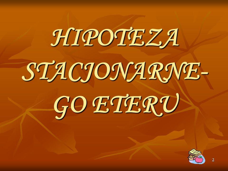 HIPOTEZA STACJONARNE-GO ETERU