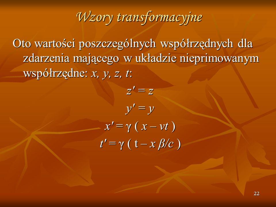 Wzory transformacyjne