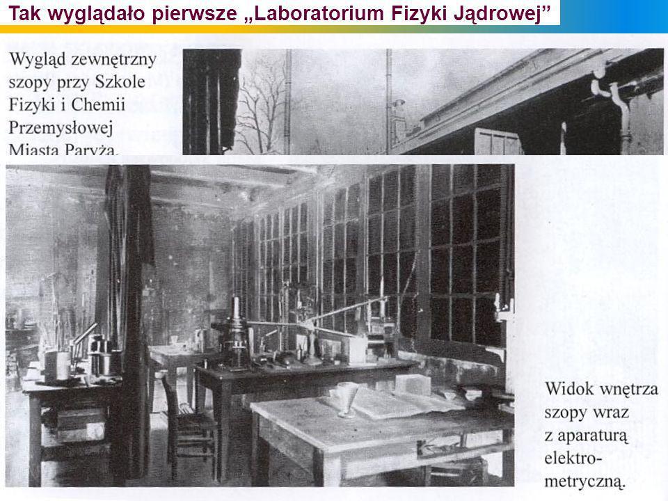 """Tak wyglądało pierwsze """"Laboratorium Fizyki Jądrowej"""