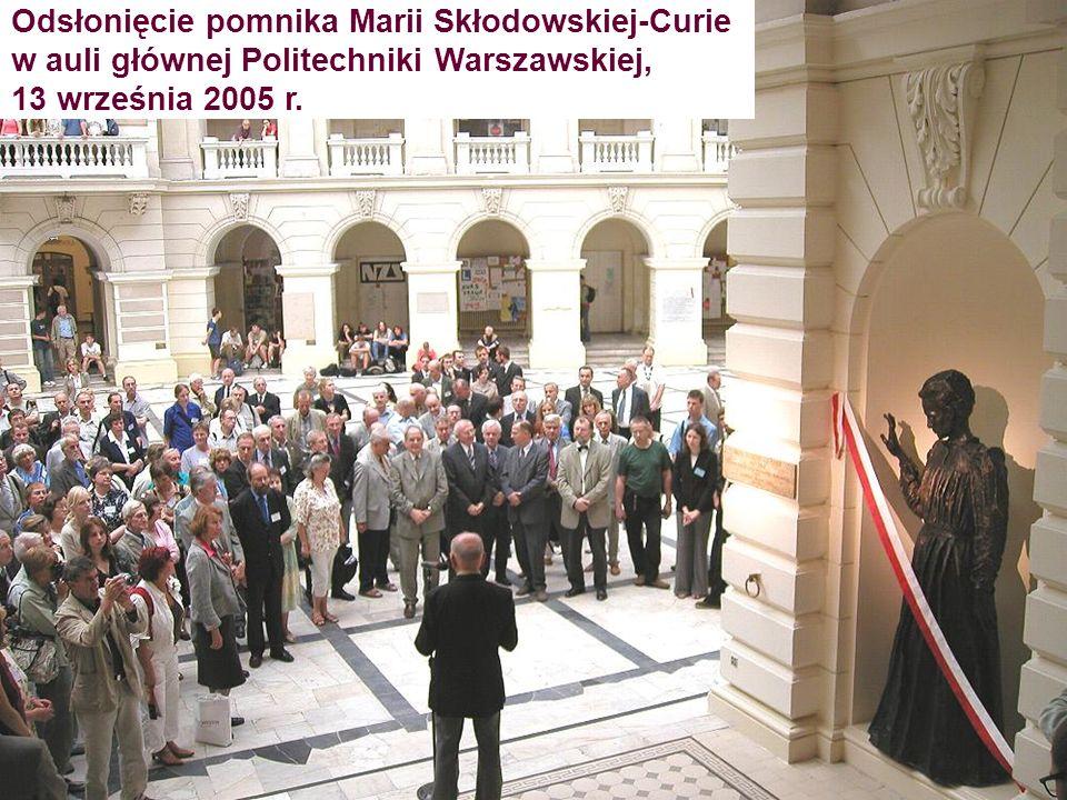 Odsłonięcie pomnika Marii Skłodowskiej-Curie