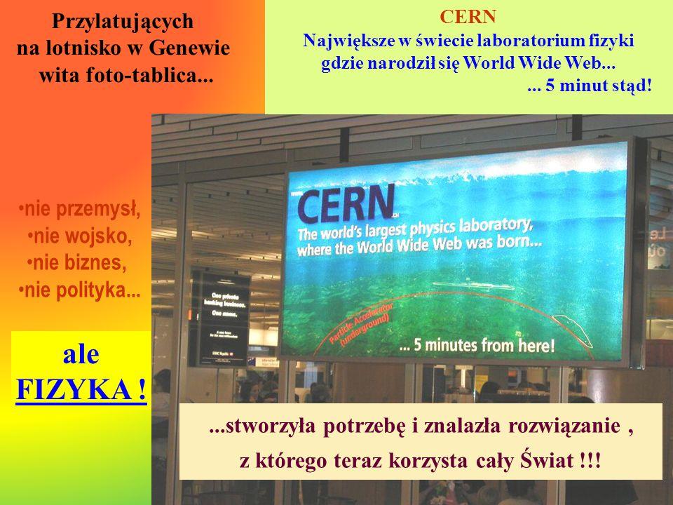 ale FIZYKA ! Przylatujących na lotnisko w Genewie wita foto-tablica...