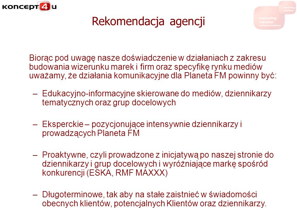 Rekomendacja agencji