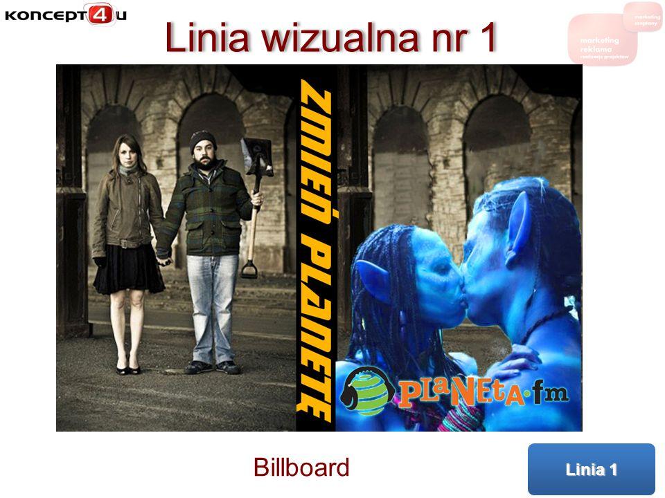 Linia wizualna nr 1 Linia 1 Billboard