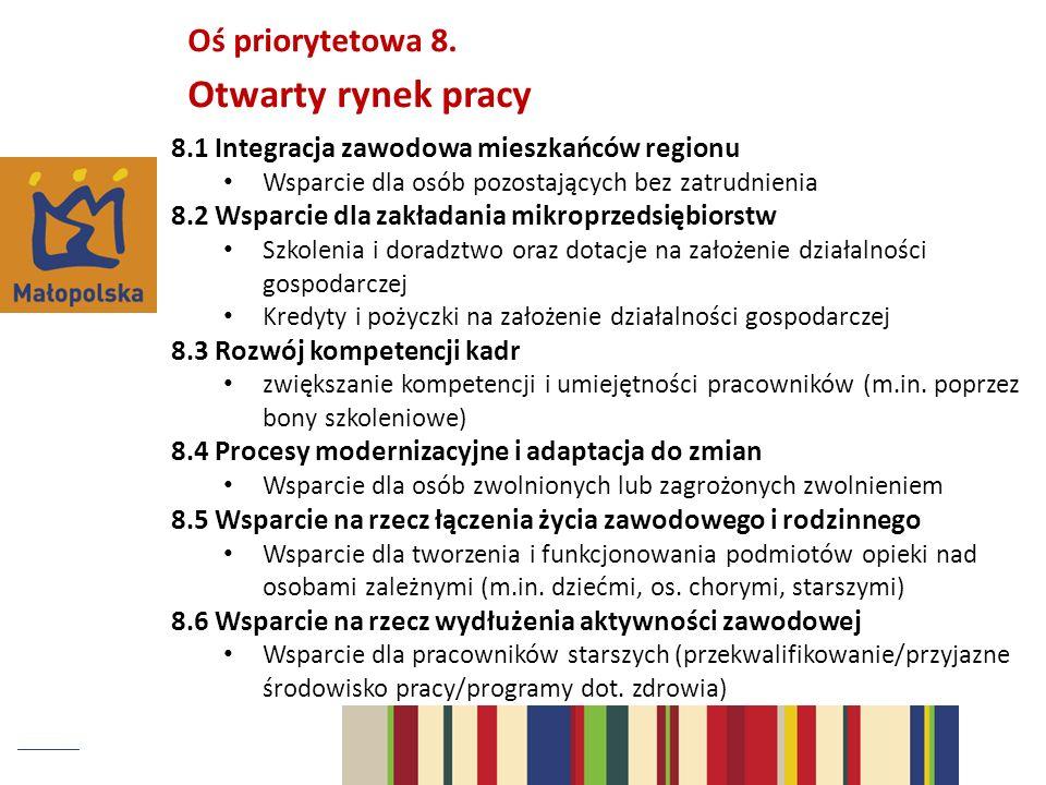 Otwarty rynek pracy Oś priorytetowa 8.