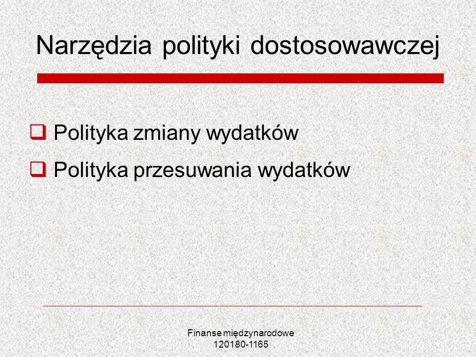 Narzędzia polityki dostosowawczej
