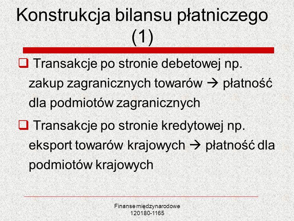 Konstrukcja bilansu płatniczego (1)