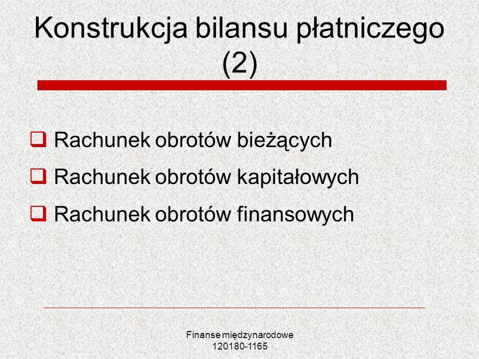 Konstrukcja bilansu płatniczego (2)