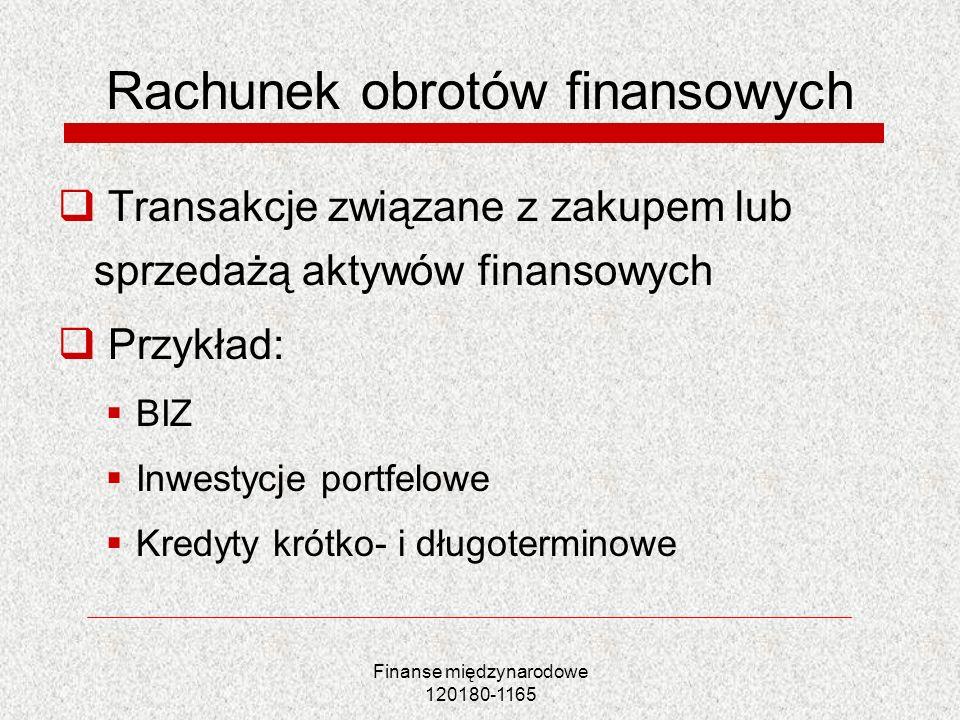 Rachunek obrotów finansowych