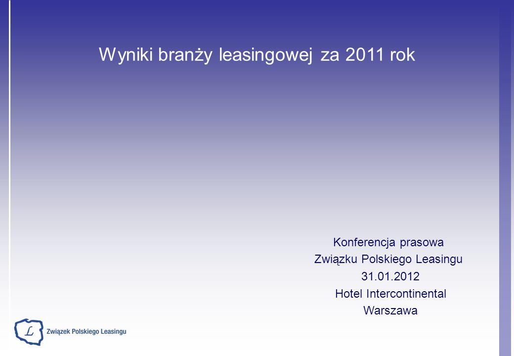 Wyniki branży leasingowej za 2011 rok