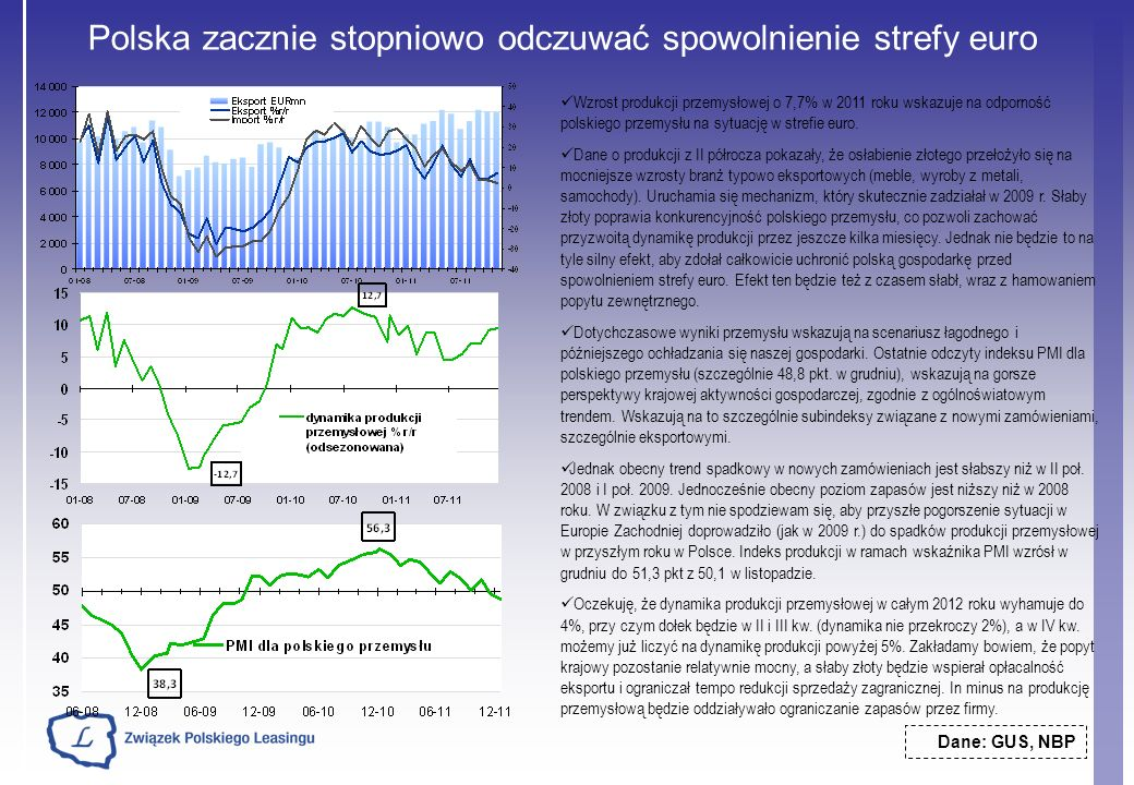 Polska zacznie stopniowo odczuwać spowolnienie strefy euro