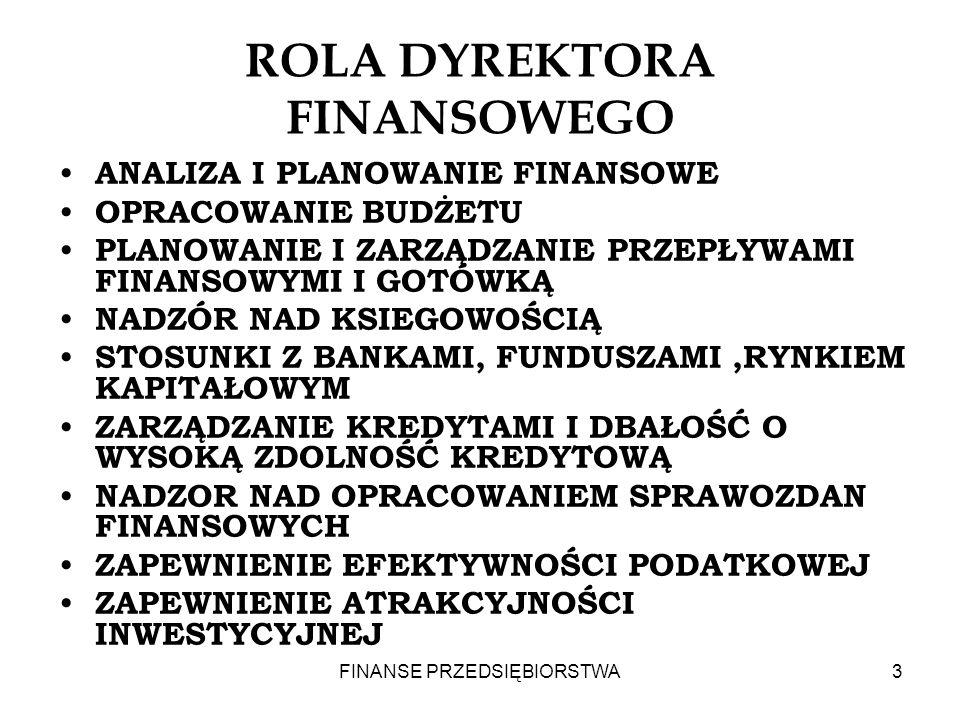 ROLA DYREKTORA FINANSOWEGO