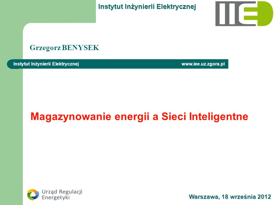 Magazynowanie energii a Sieci Inteligentne