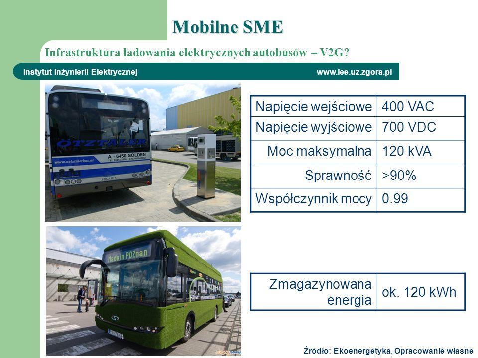 Mobilne SME Napięcie wejściowe 400 VAC Napięcie wyjściowe 700 VDC