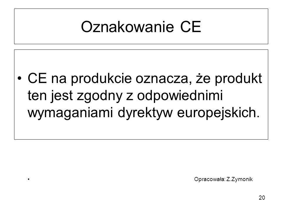 Oznakowanie CE CE na produkcie oznacza, że produkt ten jest zgodny z odpowiednimi wymaganiami dyrektyw europejskich.