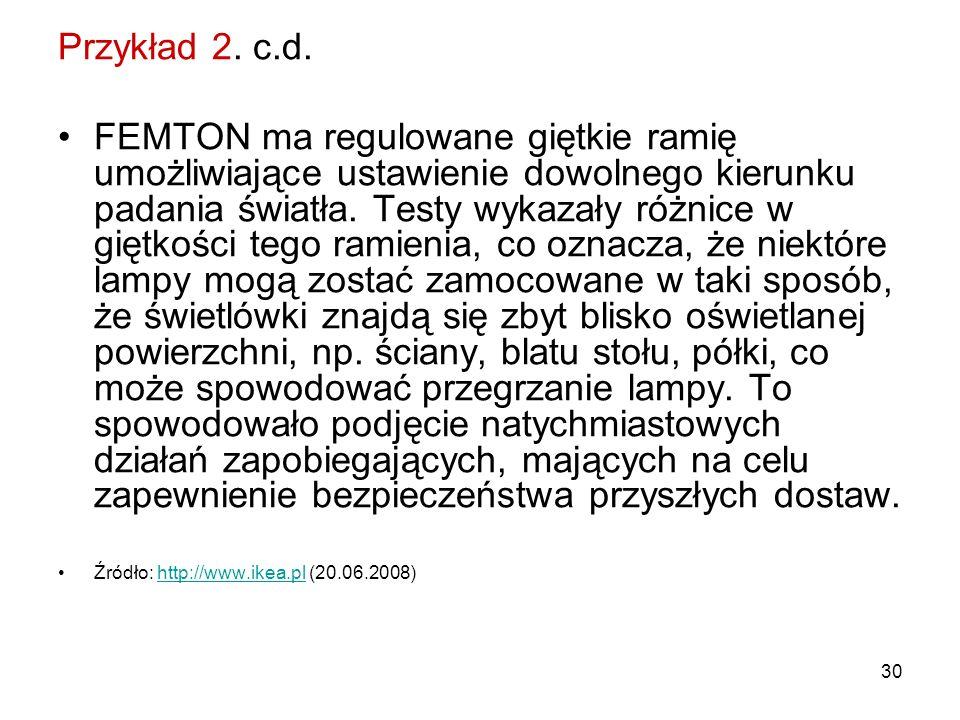Przykład 2. c.d.