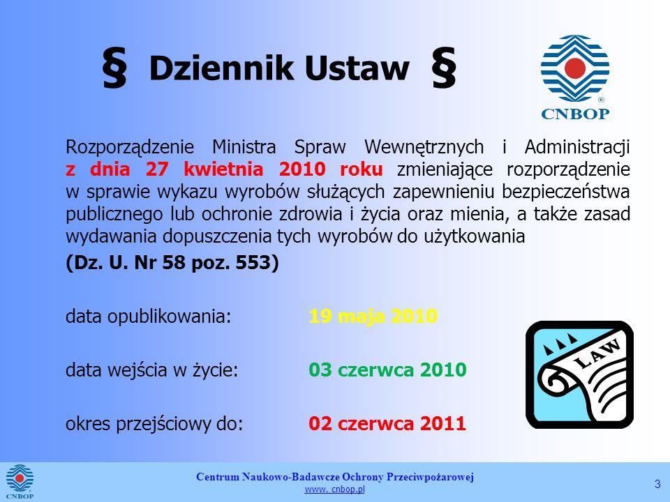 § Dziennik Ustaw §