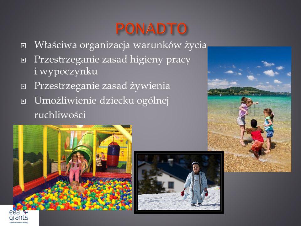 PONADTO Właściwa organizacja warunków życia