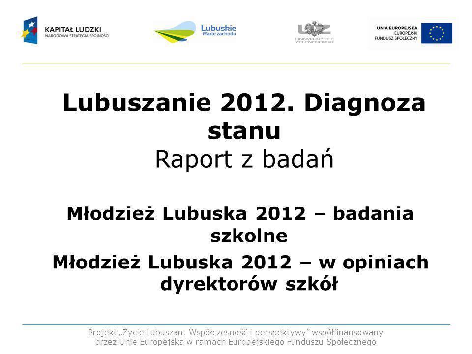 Lubuszanie 2012. Diagnoza stanu Raport z badań