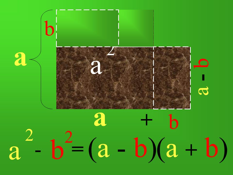 b 2 b a a 2 a - b a + b a 2 b 2 (a - b) (a + b) - =