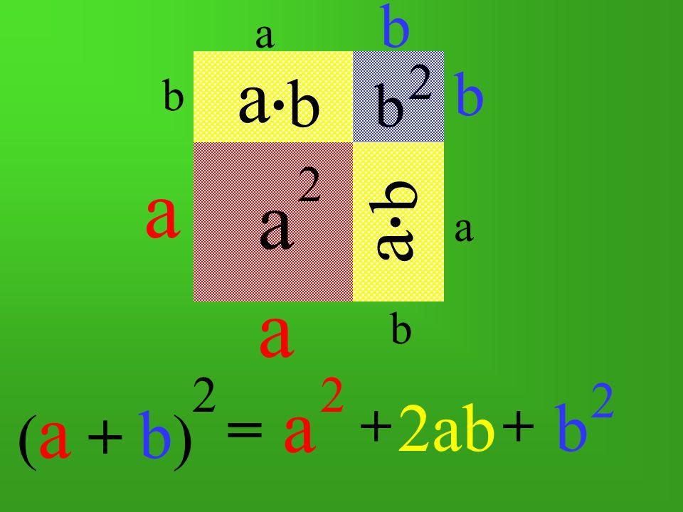 a a a a a a b b b 2ab b . b b . (a + b) = (a + b) + + 2 2 2 2 2 2 a b