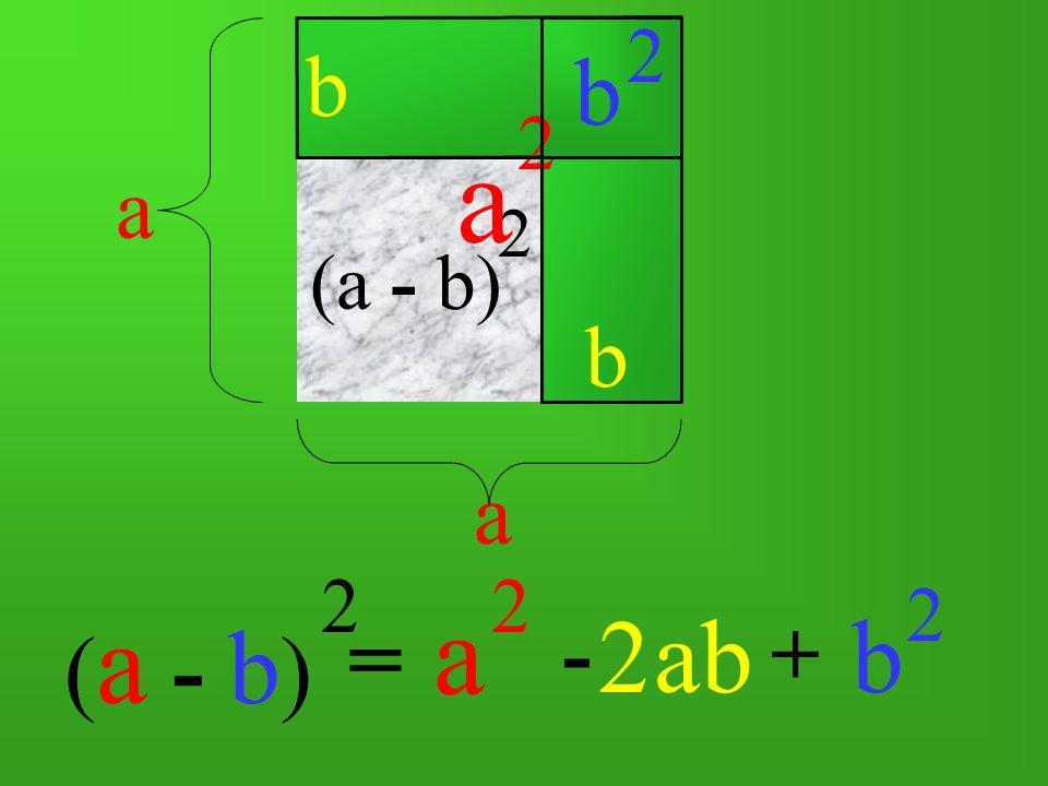 b 2 b a 2 a (a - b) 2 b a (a - b) 2 a 2 b 2 2 ab = - +