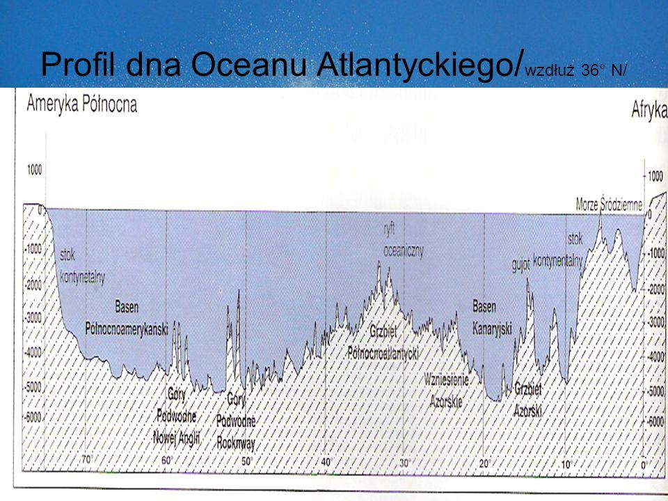 Profil dna Oceanu Atlantyckiego/wzdłuż 36° N/