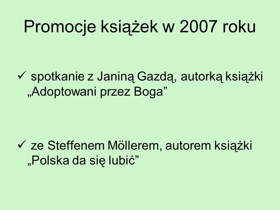 Promocje książek w 2007 roku
