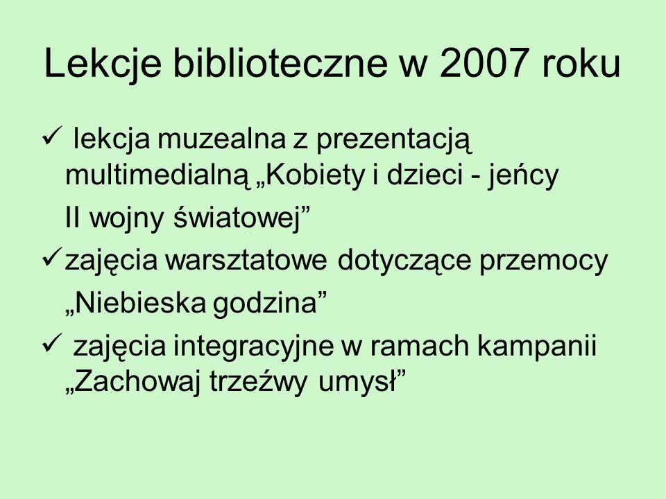 Lekcje biblioteczne w 2007 roku