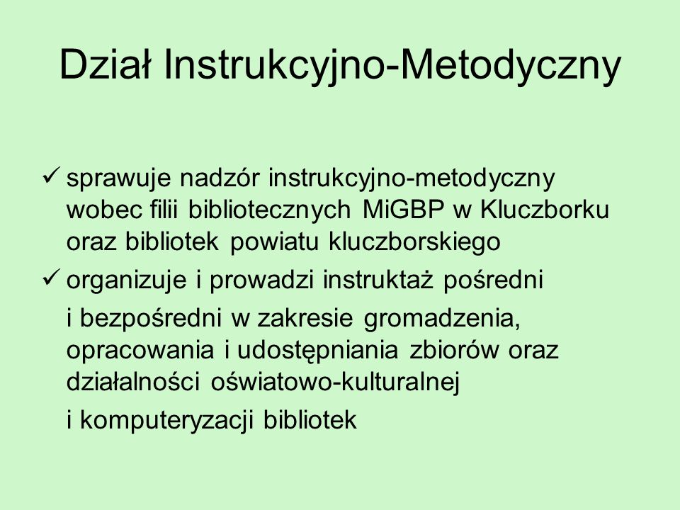 Dział Instrukcyjno-Metodyczny
