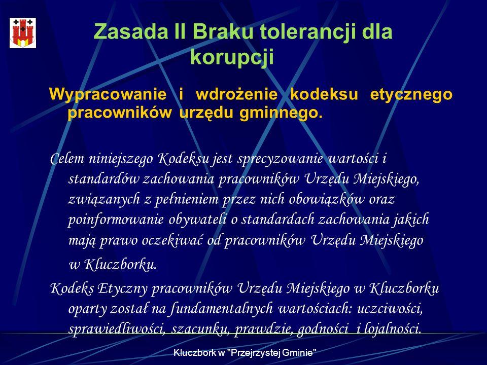 Zasada II Braku tolerancji dla korupcji