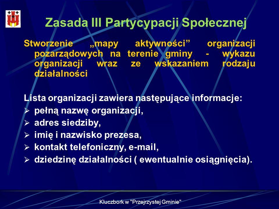 Zasada III Partycypacji Społecznej