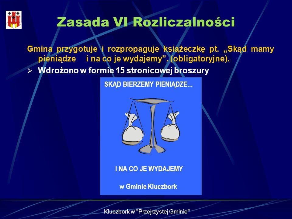 Zasada VI Rozliczalności