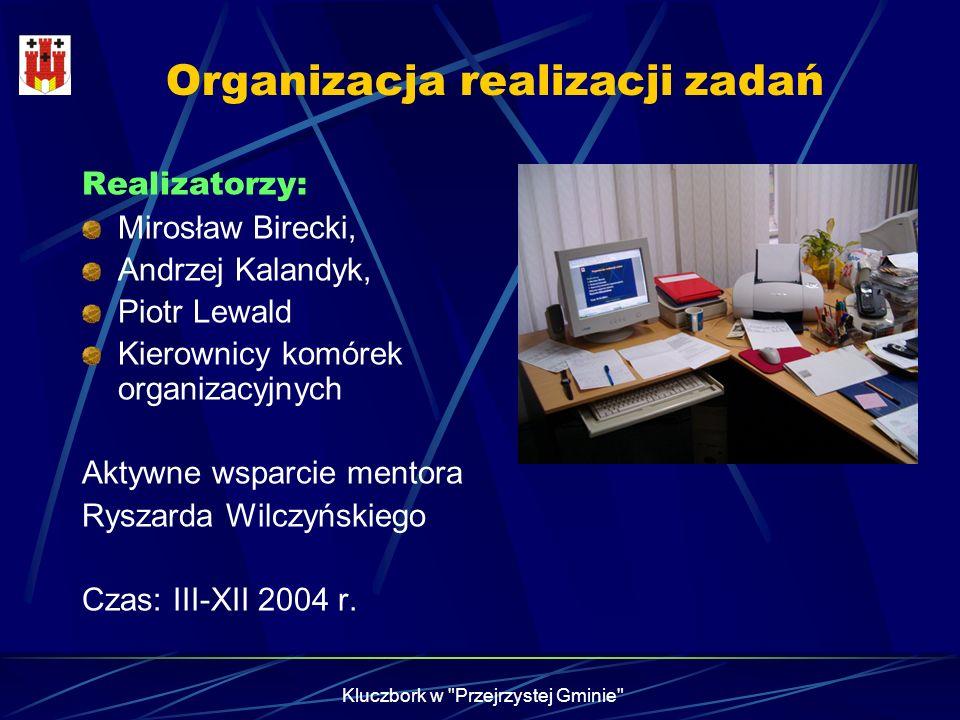 Organizacja realizacji zadań