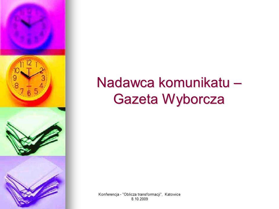 Nadawca komunikatu – Gazeta Wyborcza