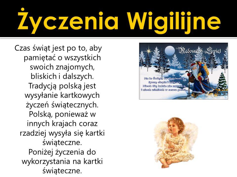 Życzenia Wigilijne