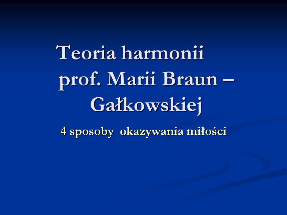 Teoria harmonii prof. Marii Braun –Gałkowskiej
