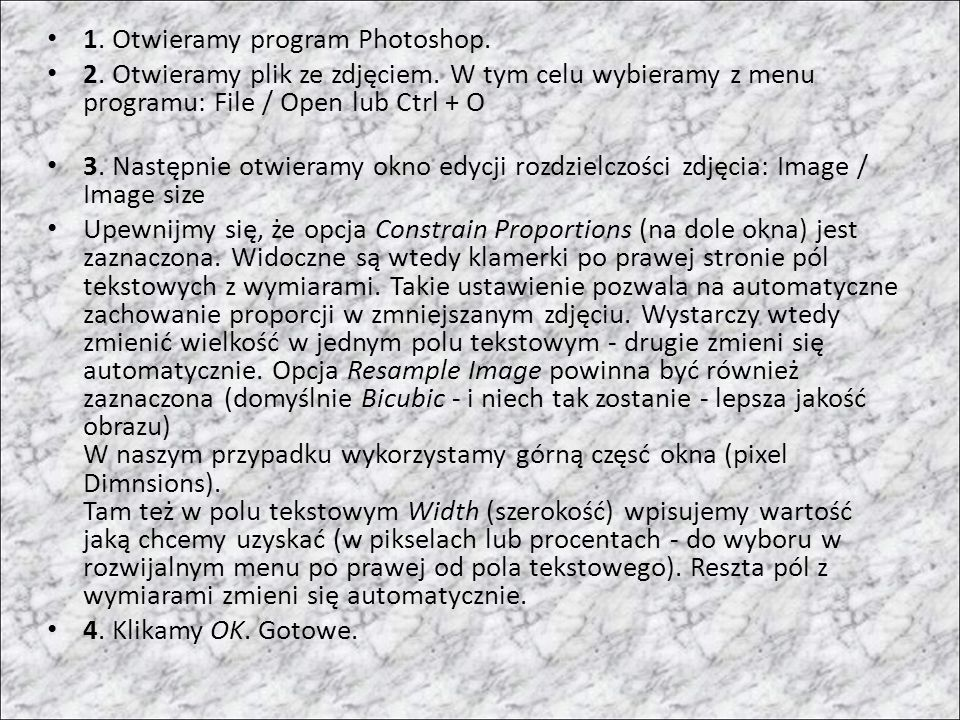 1. Otwieramy program Photoshop.