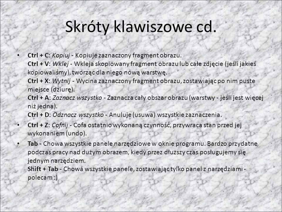 Skróty klawiszowe cd.